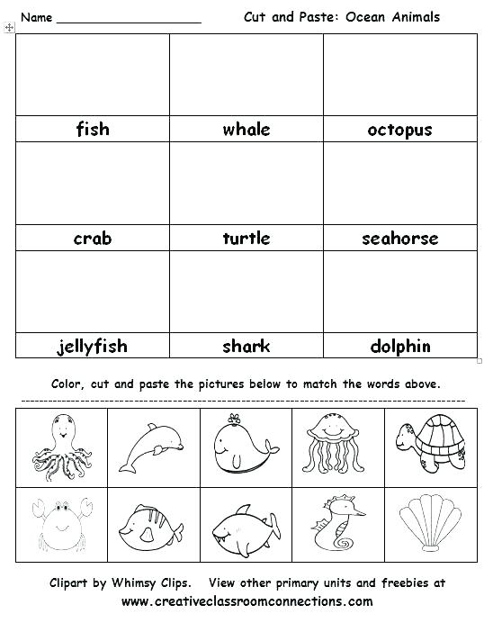 Cut And Paste Thanksgiving Worksheets K Cut And Paste Worksheets