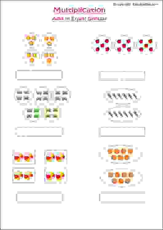 Maths Worksheets For Grade 1 Kids To Practice Multiplication Using