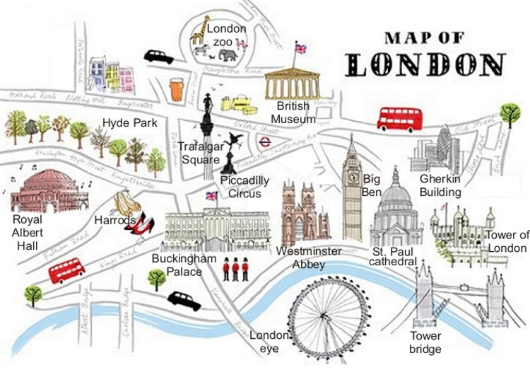English Exercises  London Monuments And Places