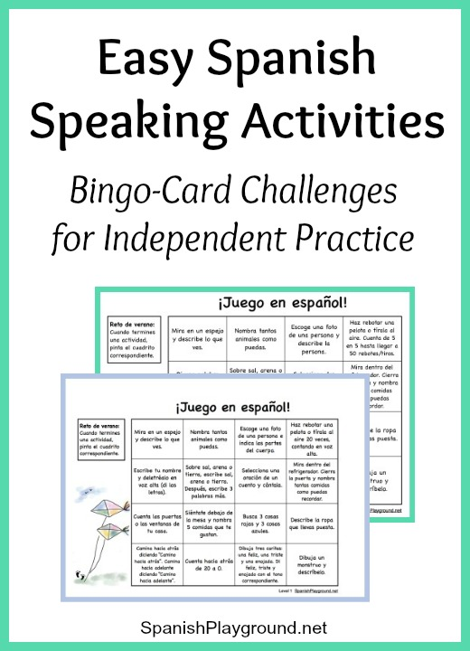 Easy Spanish Speaking Activities For Independent Practice