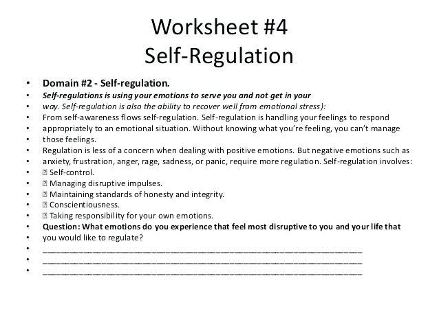 Emotional Literacy Worksheets Emotional Regulation Worksheets
