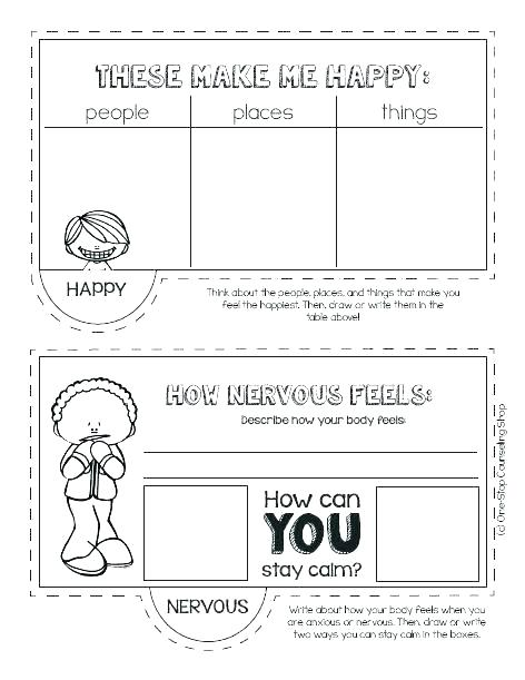 Emotions Worksheets For Kids Free Draw On Your Draw On Your