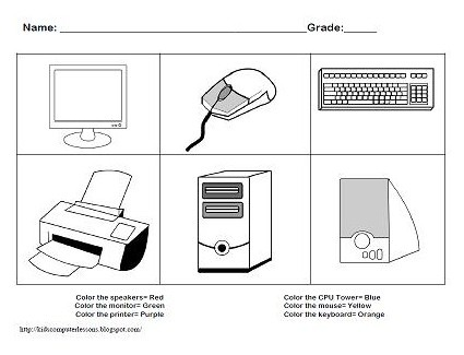 Parts Of Computer For Kids Clipart & Free Clip Art Images  2479