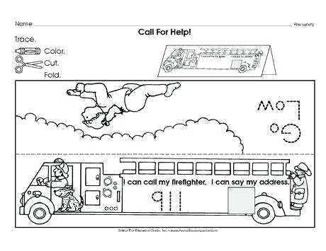 Fire Safety Worksheets Preschool Week Awareness