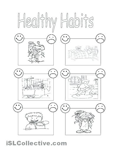 Leadership Good Health Habits Worksheets For Kindergarten Image Of