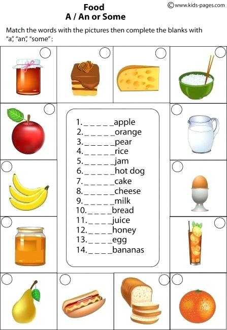 Food A An Some Worksheets Syntax And Grammar Work Maths
