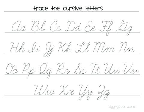 Free Printable Cursive Handwriting Worksheets Free Printable