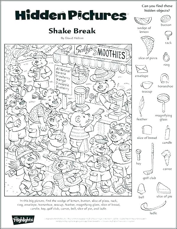 Free Printable Hidden Pictures Worksheets Hidden Objects