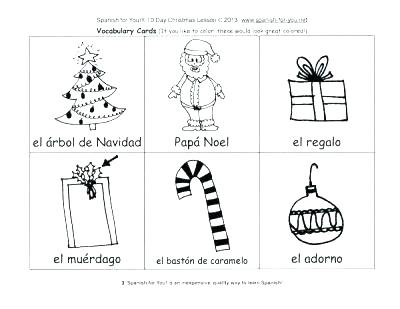 Free Printable Spanish Christmas Worksheets – Festival Collections