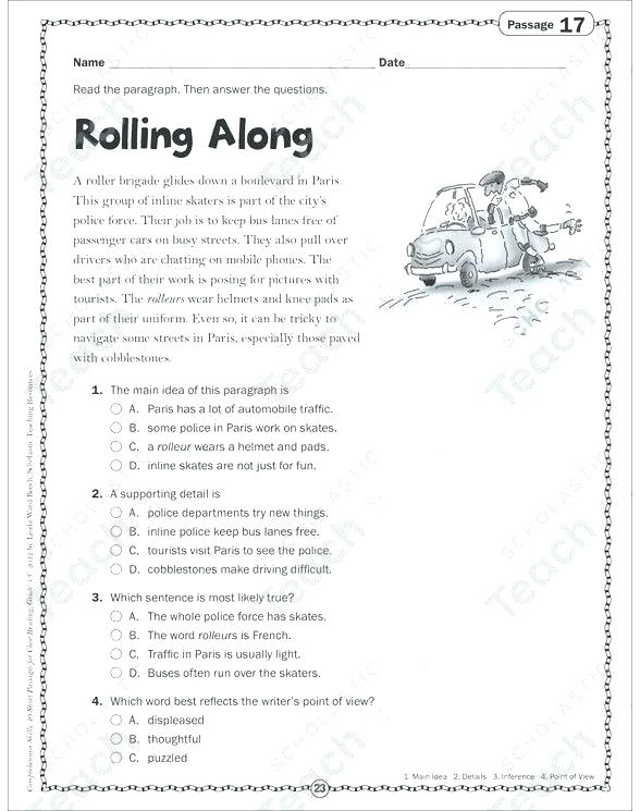 Free Printable Worksheets For Middle School French Grade 1