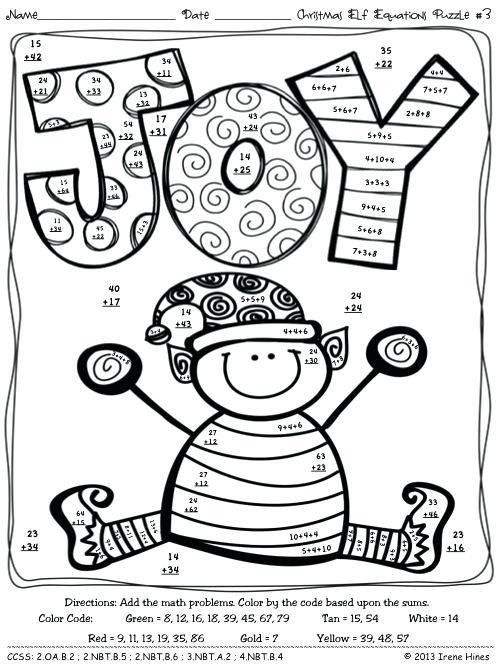 Fun Christmas Math Worksheets Fun Math Worksheets For Kids