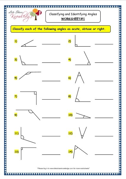 Grade 3 Maths Worksheets  (14 7 Geometry  Classifying And