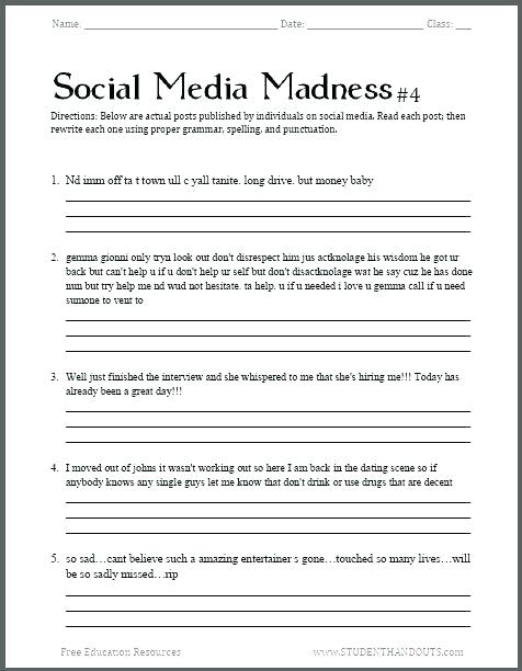 Free English Worksheets For Grade 6 – Conspiracybuzz Info