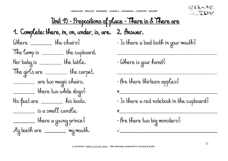 Class Worksheets Grade 2 Printable 8 Grammar English For Pdf With