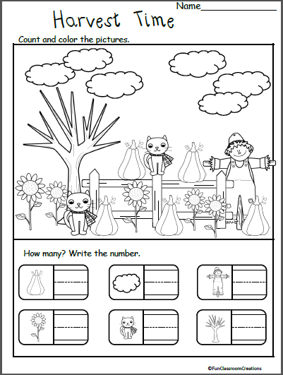 Fall November Thanksgiving Worksheets For Kindergarten