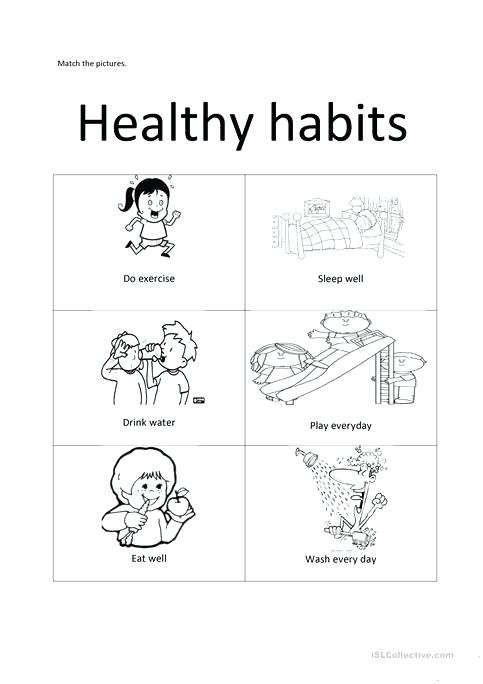 Healthy Habits Worksheets Activities Healthy Habits Worksheet Free