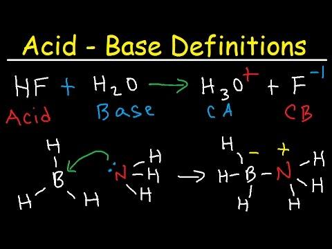 Conjugate Acid Base Pairs, Arrhenius, Bronsted Lowry And Lewis