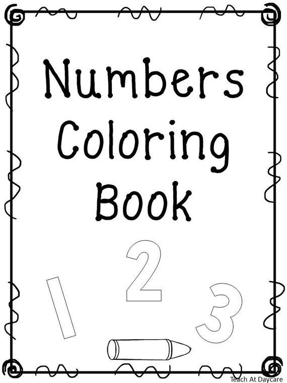 21 Printable Number Coloring Book Worksheets  Numbers 1
