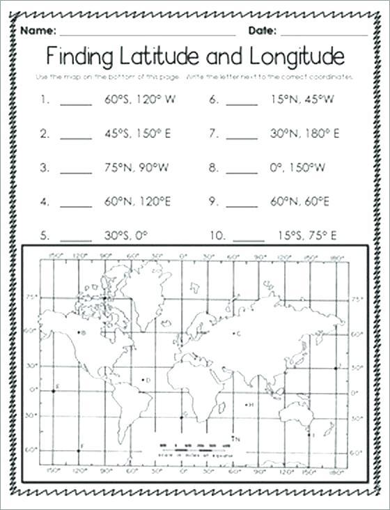 Latitude And Longitude Worksheets Free Printable