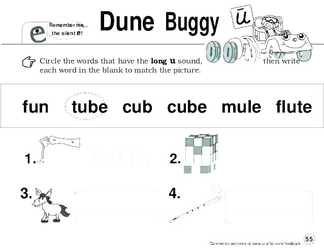 Long Vowel U Silent E Worksheets O Activities By Printable Words
