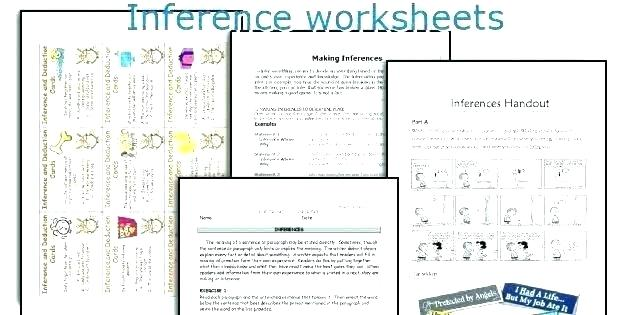 Inference Worksheets Middle School