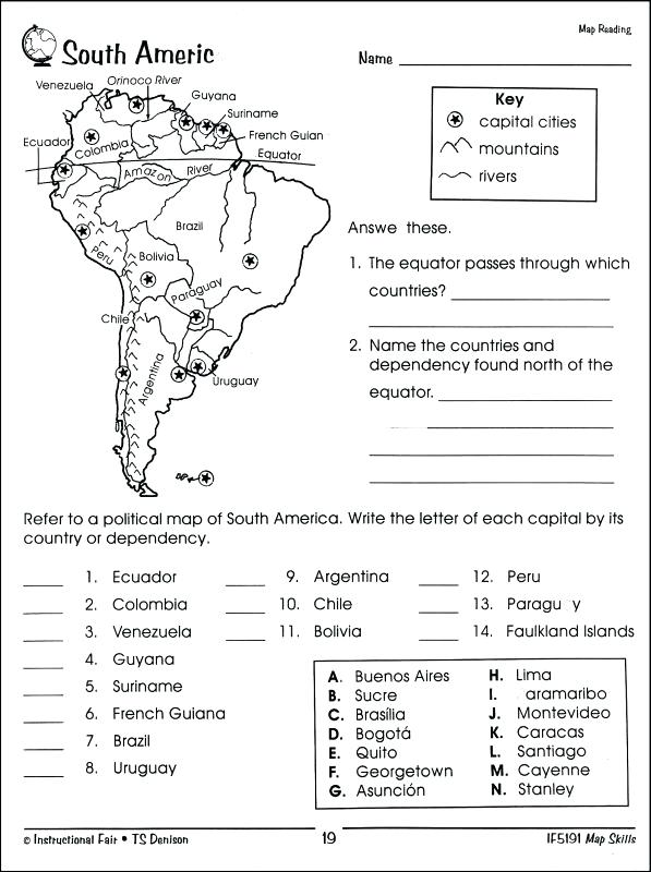 Reading A Map Worksheet Easy And Free To Click Print St Day