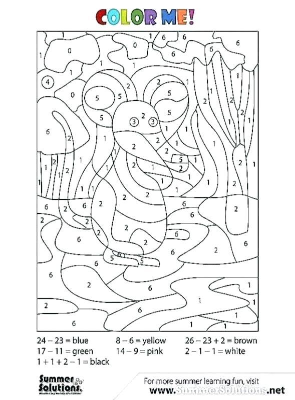 Math Coloring Worksheet – Campradio Org