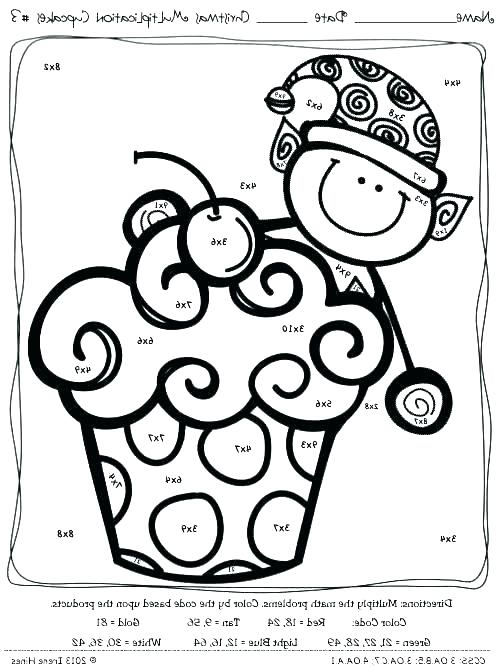 Coloring Pages ~ Math Coloring Worksheets 3rd Grade Fun Sheets
