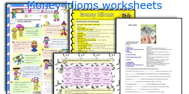 Money Idioms Worksheets