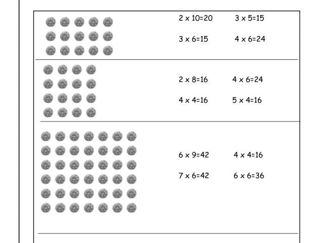 Rontavstudio » Multiplication Array Worksheets From The Teacher's