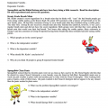 Spongebob Worksheets Scientific Method