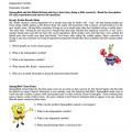 Spongebob Worksheets Scientific Method