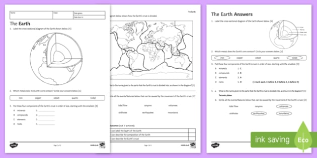 Plate Tectonics Worksheet Dads Worksheets Potential And Kinetic
