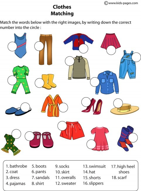 Pleasant The Clothes Worksheets Pdf With Additional Clothes