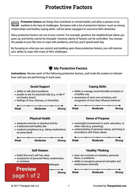 Protective Factors (worksheet)