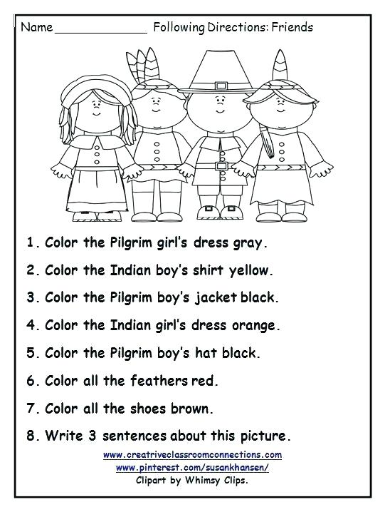 Printable Math Worksheets For Grade Thanksgiving All Download Fun
