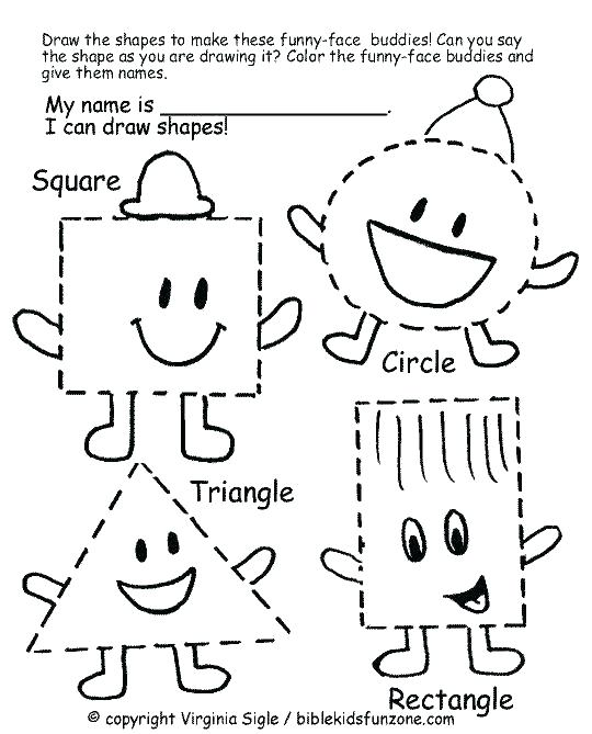 Printable Shapes Worksheets For Toddlers Kids Small Star Shape