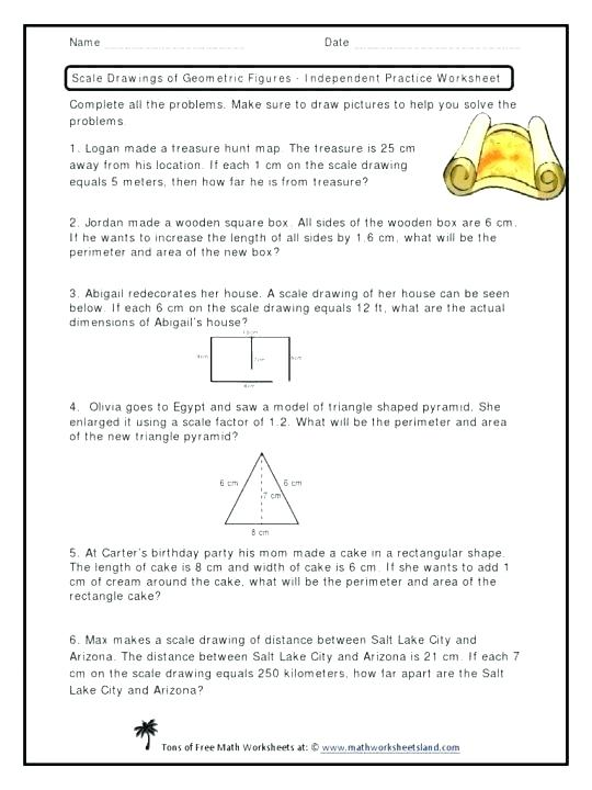 Scale Drawing Worksheets