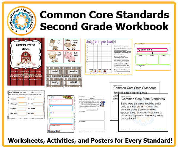Second Grade Common Core Workbook Usb
