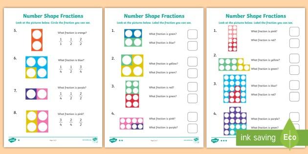 Name The Fraction Worksheet   Worksheets