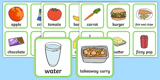 Healthy And Unhealthy Foods Sorting Activity