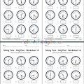 Telling Time Half Past Worksheets