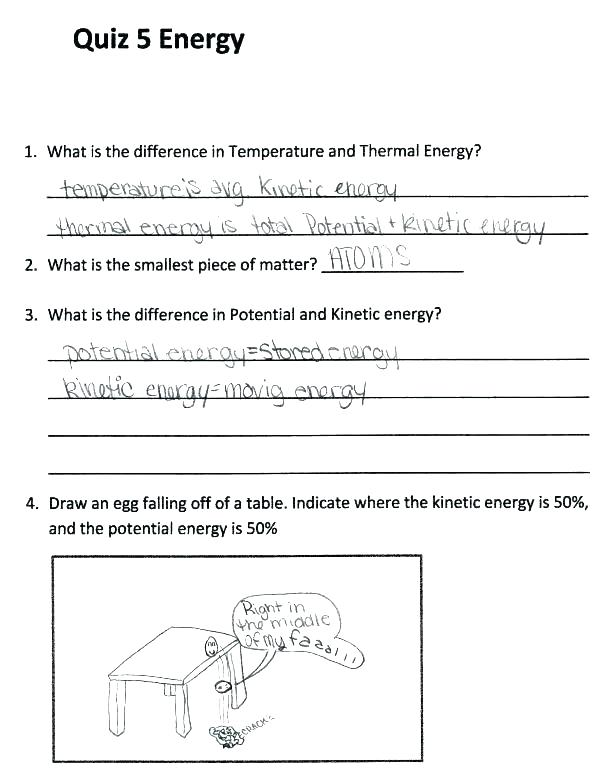 Heat Energy 3rd Grade Worksheets