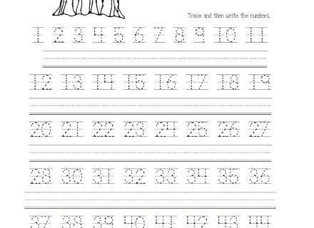 1 Missing Number Worksheet Kids Worksheets Org Numbers Tracing 50