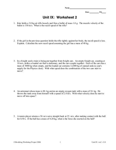 Unit Ix  Worksheet 2