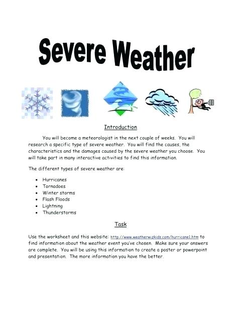 Tornado Worksheets For Middle School