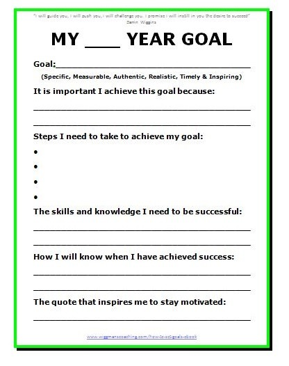 11 Effective Goal Setting Templates For You