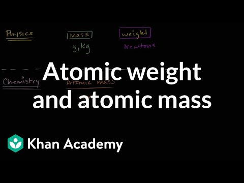 Atomic Weight And Atomic Mass (video)