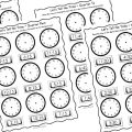 Hour Clock Worksheets