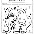 Letter E Worksheets Kindergarten
